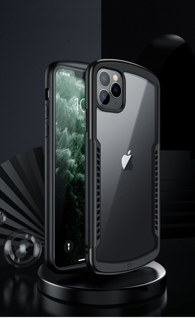 Ultra Slim Shockproof Transparent Case For iPhone 11 Bumper Case With Airbag Protection For iPhone11 Pro iPhone 11 Pro Max Soft TPU Anti-Drop Case For iPhone