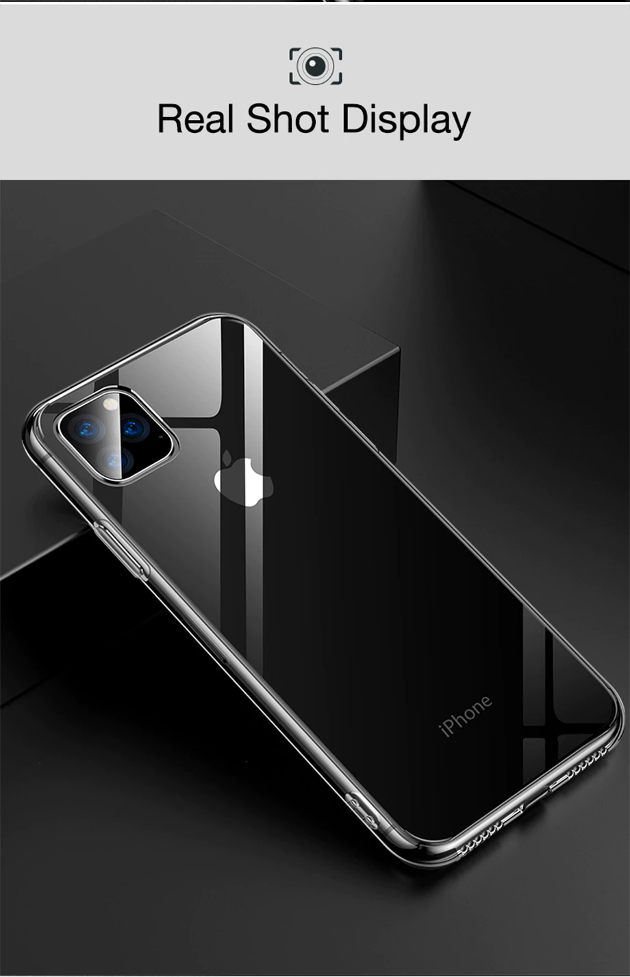 Ultra Slim Thin Soft Transparent Phone Case For iPhone 11 XS X XR 11 Pro XS Max Protective TPU Silicone Case For iPhone 8 7 6 6s Plus Cover