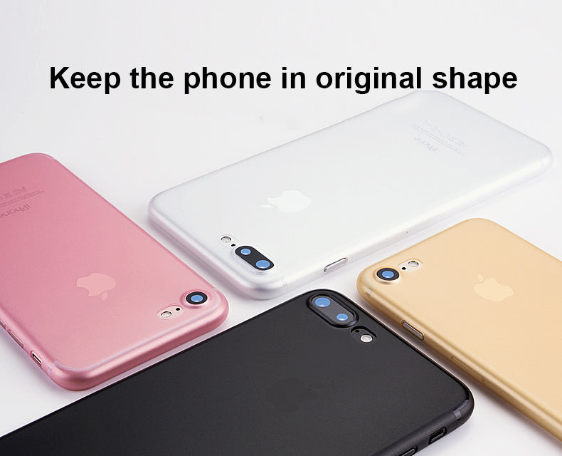 Ultra Slim Translucent Skin Case for Apple iPhone 6 6s 7 Plus 5 5s SE 8 8 Plus X 10 Back Cover Matte Surface Hard Protective Silicon Housing For iPhone