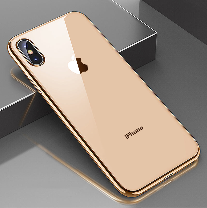 Ultra Slim Transparent Nano Plated Bumper Case For iPhone X XS Max XR Case For iPhone X 7 6 8 Plus Multiple Colors TPU Back Cover Bumper Case