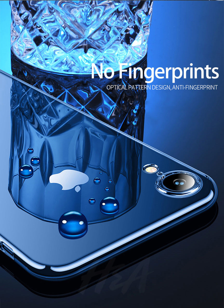 Ultra Thin Glossy Transparent Case For Apple iPhone X XS Max iPhone Case Clear Soft TPU Cover For iPhone XR XS Max Phone Case
