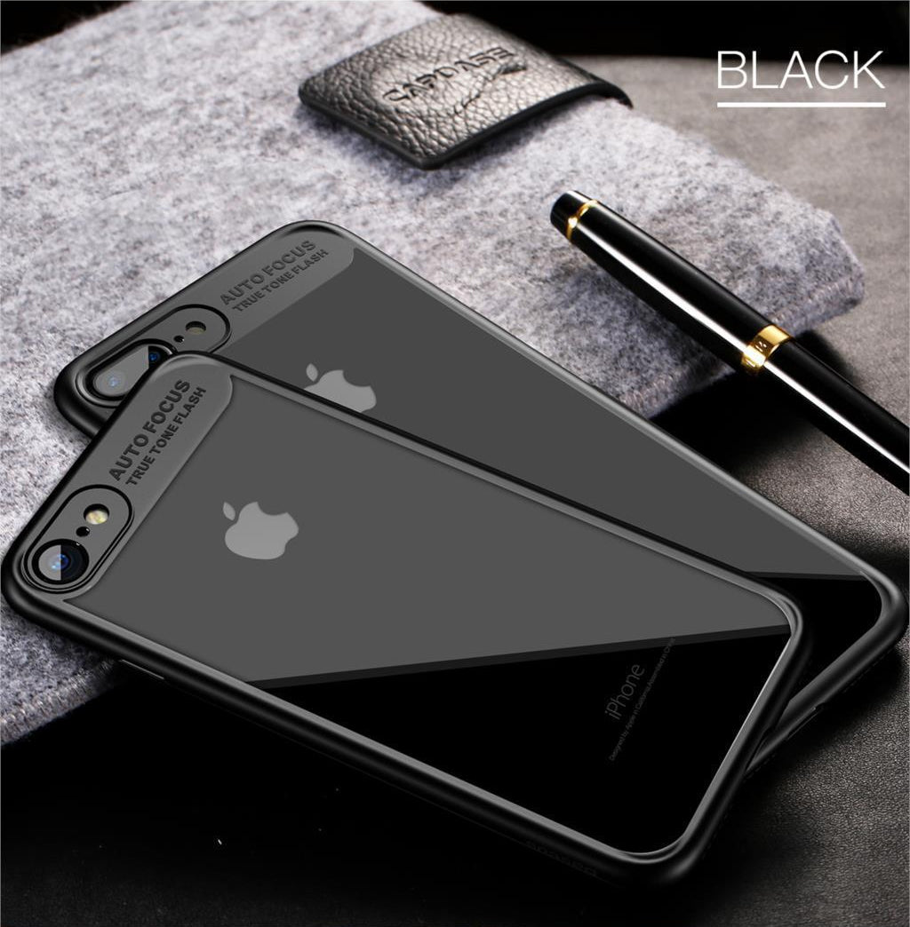 Ultra Thin Luxury Case For iPhone X 8 7 6 s PC & TPU Silicone Cover Case For iPhone 8 7 6 s 6s Plus