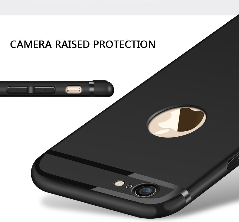 Ultra Thin Luxury Matt Black Case For iPhone X Case Lightweight Wrapped Silicon Case For iPhone 8 8 Plus 7 6 6s 6 Business Phone Case