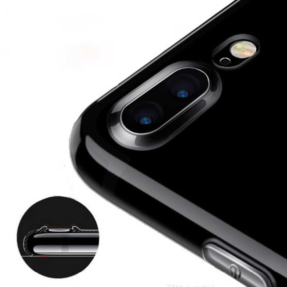 Ultra Thin Transparent Phone Case For iPhone XR XS 8 7 7 Plus 6 6S PlusClear Silicon Soft TPU Fitted Case Protective Anti-Knock Cover For iPhone