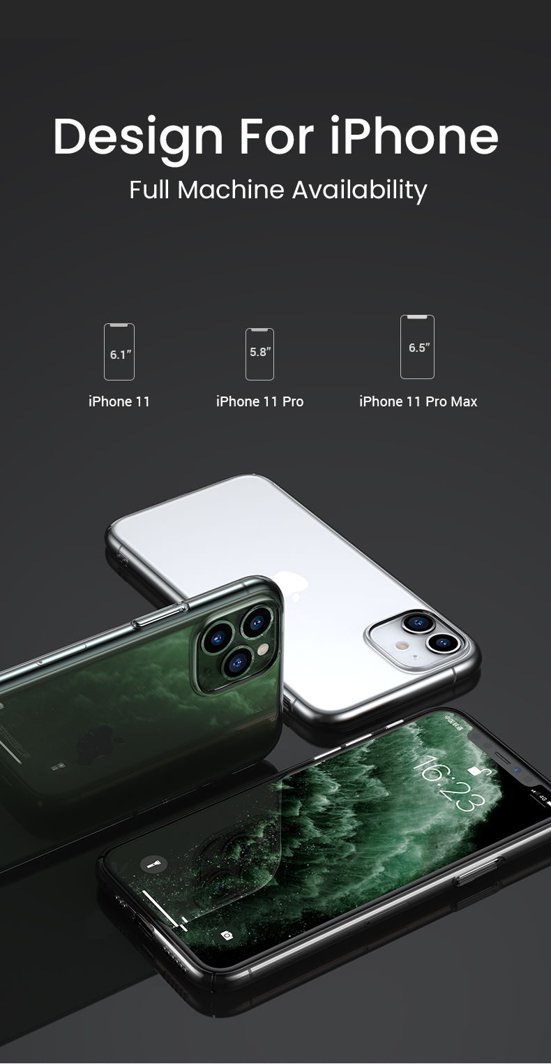 Ultra Thin Transparent Silicone Fitted Phone Case for iPhone 11 Case For iPhone 7 8 X XS XS Max 11 Pro 11 Pro Max Anti-Knock iPhone Case