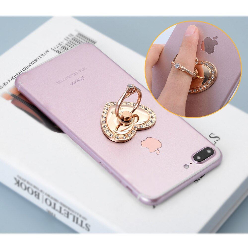 Universal 360 Degree Rotating Finger Ring Holder For iPhone Mobile Phone Smartphone Ring Stand Holder Suitable For Most Mobile Phones