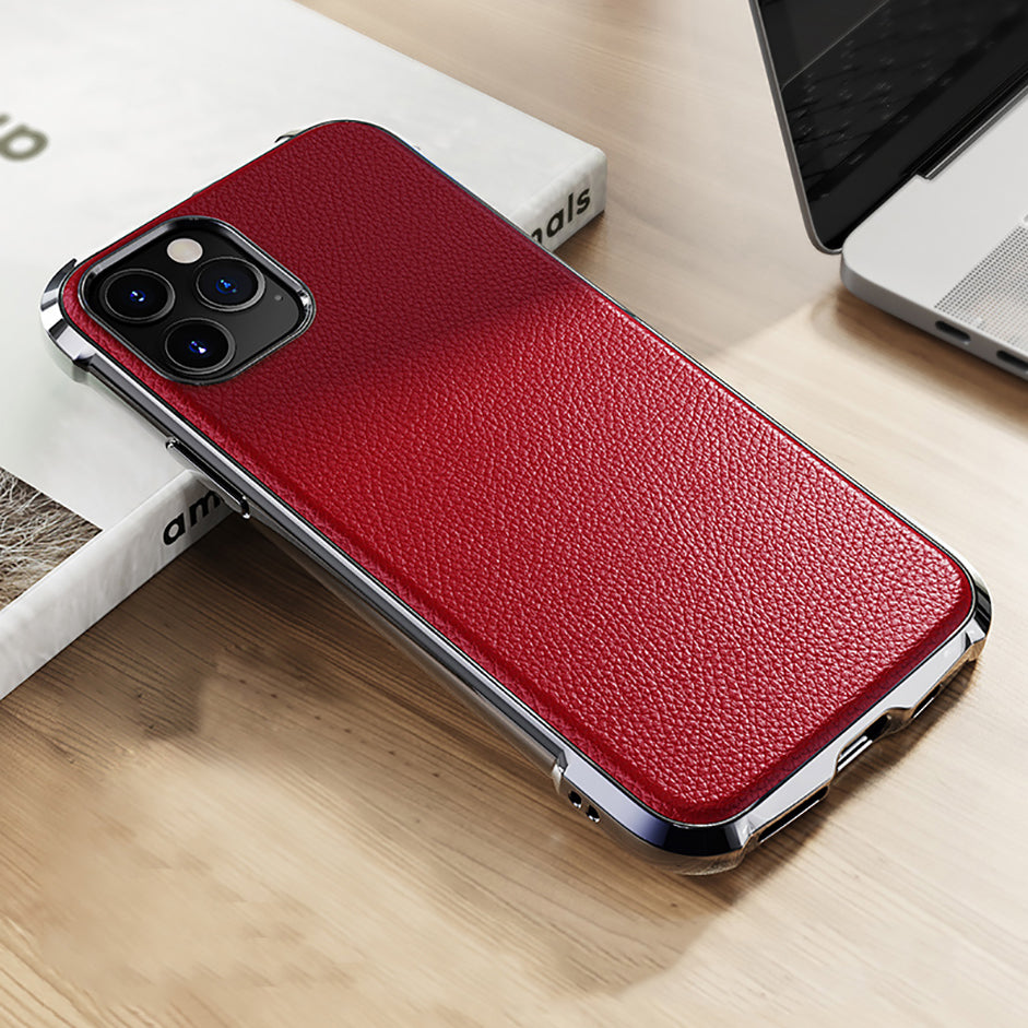 Untra Thin TPU Leather Grain Design Case For iPhone 11 Pro Max X XR XS Max Soft Material 360 Bumper Full Protective Phone Case Apple iPhone Accessories