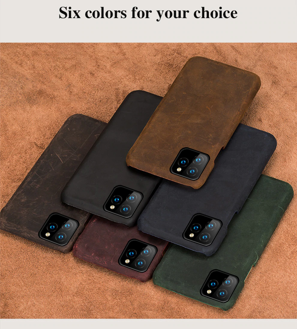 Vintage Leather Half Wrapped Fitted Phone Case For iPhone 11 11 Pro 11 Pro Max X XS XR XSMAX 6s 7 8 Plus 6 5 5S SE Plus Real Leather