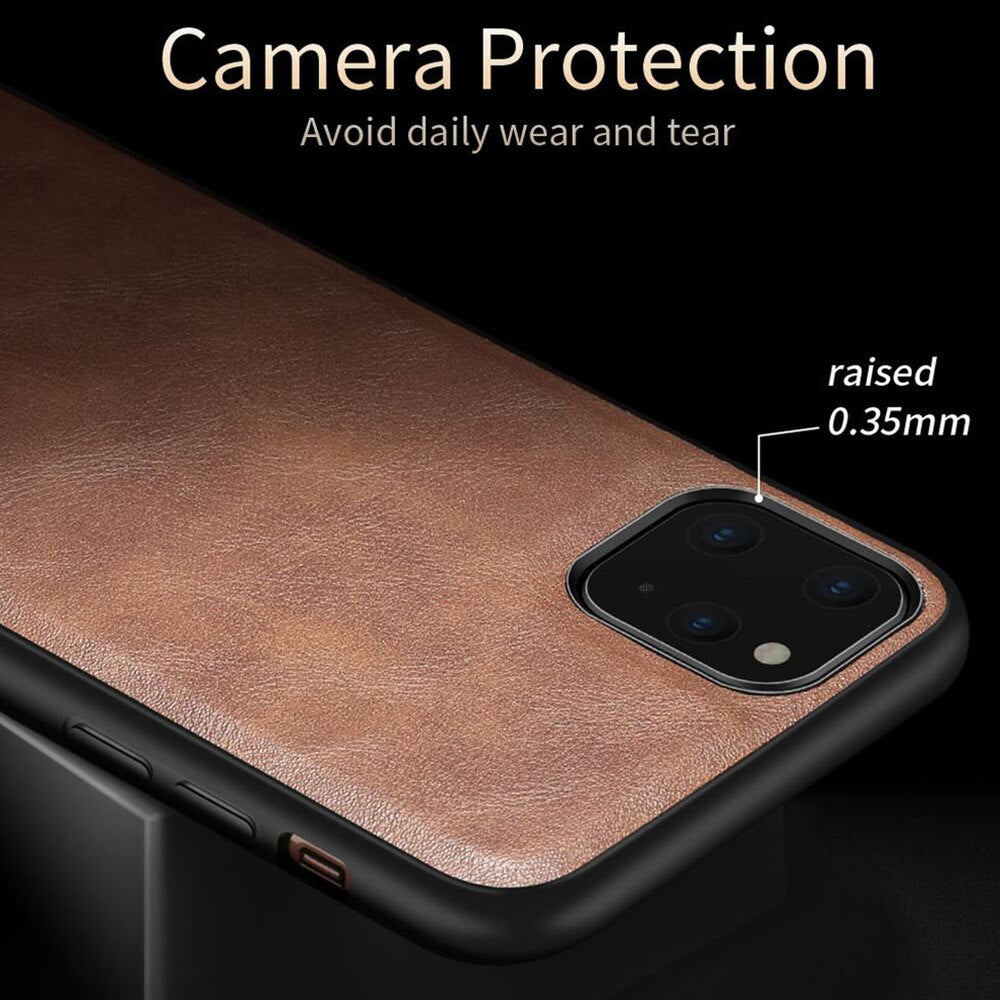 Vintage Leather Style Leather Fitted Cover For iPhone 11 Pro X Xr Xs 6 6S 7 8 Plus SE2 Men Luxury Shockproof Protective Bumper Phone Cover For iPhone 12 Pro Max Mini