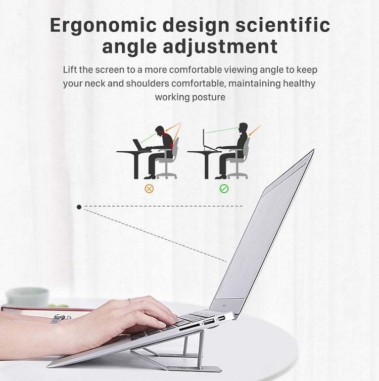 Work From Home Laptop Stand For Desk Ergonomic Extensions For Raising Tilting MacBook Laptop For Better Posture Can Be Used With Any Laptop Tablet Or Phone