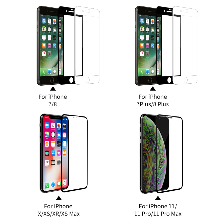 XD Nanoplating Techology Glass Screen Protector For iPhone 11 Pro Max XR XS Max SE 8 Plus Glass Front Film 3D Protective Anti-Glare Tempered Glass for iPhone