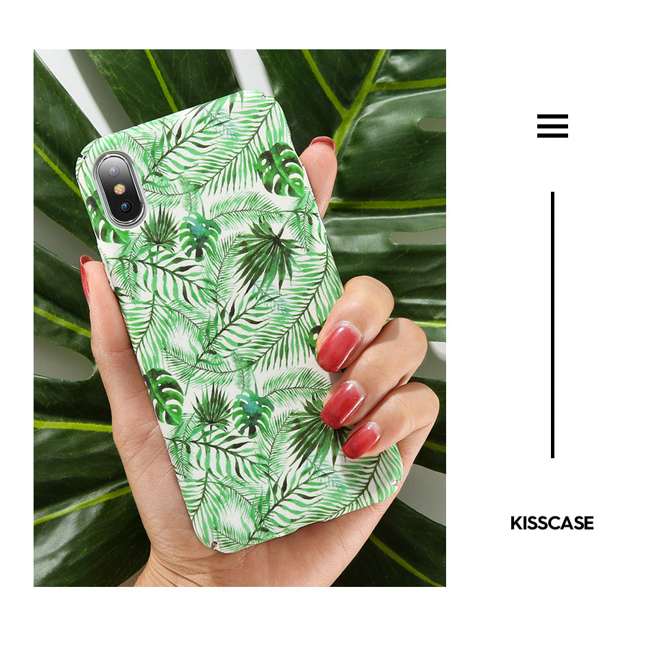 Tropical Fashion Smooth Matte Case For iPhone 6 6s 7 8 Flamingo Pastel Color Ultra Thin Phone Case For iPhone X 7 8 Plus XS Max XR Hard Back Cover