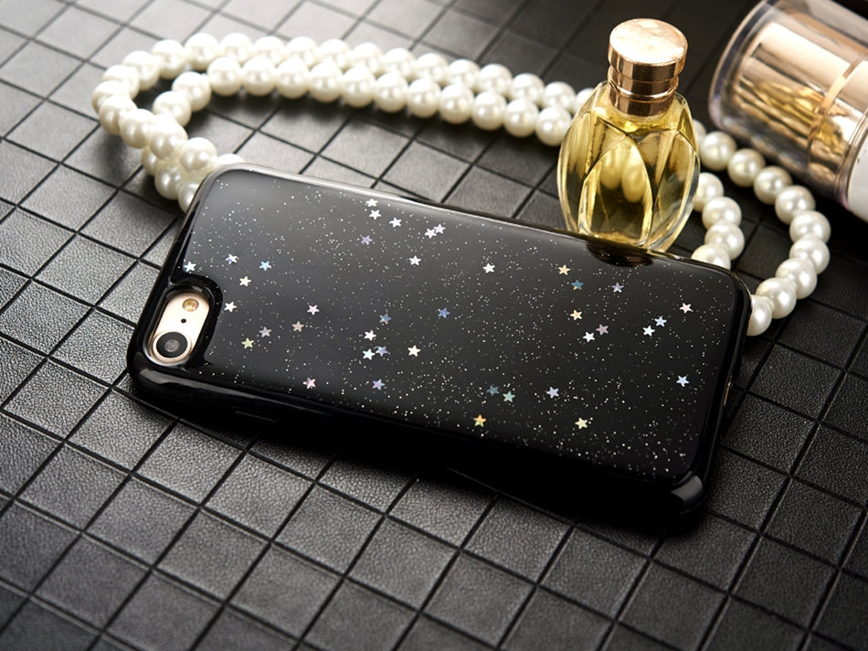 Glitter Stars Clear Case For iPhone X XS MAX XR X 10 iPhone 7 8 Plus Anti-Knock Glittery Transparent Case For iPhone 6 6S Plus iPhone 8 Plus