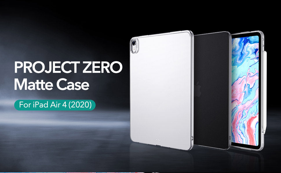 Ultra Thin Air-Guard Clear Case for 2020 iPad Air 4 iPad Pro 11''12.9 Inch Soft Flexible Anti-Scratch PU Cover Protective Case for New iPad Air