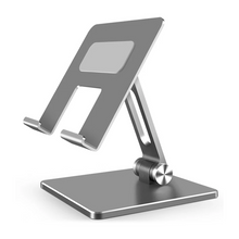 Load image into Gallery viewer, Adjustable Angle Aluminum Desk Stand For Mobile Phone Desktop Mount For iPhone Or iPad Table Stand Universal Can Be Used For Most Tablets or SmartphonesAdjustable Angle Aluminum Desk Stand For Mobile Phone Desktop Mount For iPhone Or iPad Table Stand Universal Can Be Used For Most Tablets or Smartphones