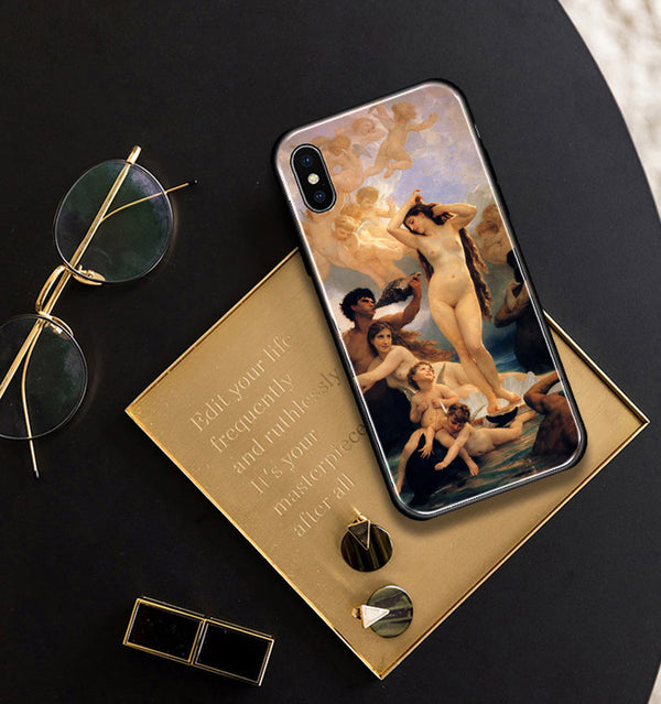 Birth Of Venus Oil Painting Fine Art Phone Case Soft Silicone Cover For Apple iPhone 5 5s Se 6 6s 7 8 Plus X XR XS MAX Anti-Knock Fitted Phone Case