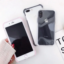 Load image into Gallery viewer, Cute Protective Anti-Knock Bumper Transparent Case For iPhone 11 Pro Max XR XS Max X 6 6S 7 8 Plus Soft TPU Phone Back Cover Case