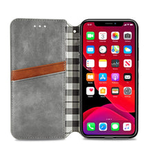 Load image into Gallery viewer, Diamond Lattice Design Luxury PU Leather Card Holder Wallet Case For iPhone 11 Pro XS Max SE 2020 XR X 7 8 6S 6 Plus PU Wallet With Magnetic Flip Stand