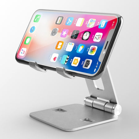 Dual Rotatable Aluminum Desktop Tablet Holder for iPad Air 1/2 mini 1/2/3/4 Pro 9.7 10.5 12.9 Universal Adjustable Angle Foldable iPhone Table Stand