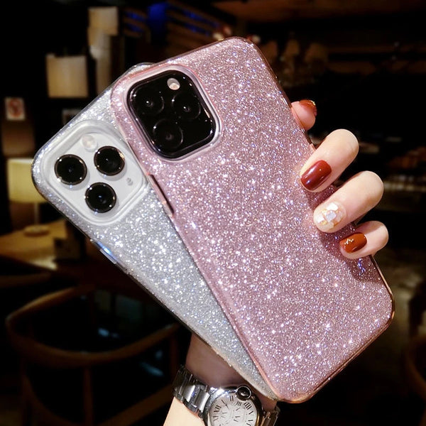 Fashion Bling Colorful Gradient Color Glitter Case For iPhone 11 Pro Max Phone Cases Soft TPU Scratch Resistant Silicone Back Cover