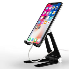 Load image into Gallery viewer, Foldable Aluminium Table Top Tablet Holder Phone Holder Constructed From Metal Alloy Phone Holder Rotatable Portable Desktop Tablet Holder for iPad iPhone