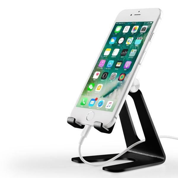 Foldable Aluminium Table Top Tablet Holder Phone Holder Constructed From Metal Alloy Phone Holder Rotatable Portable Desktop Tablet Holder for iPad iPhone