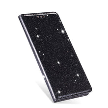 Load image into Gallery viewer, Glittering Case For iPhone 11 Pro Max X XR XS Wallet Premium Quality PU Leather Case With Flip Stand Silicone Case For 8 7 6 6S Plus 5 Glitter Case With Card Slot