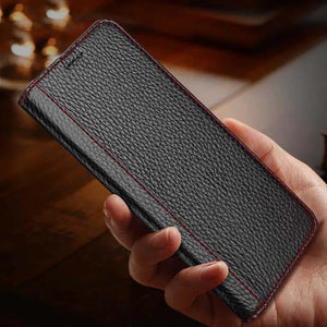 Genuine Leather Card Holder Flip Case For iPhone X XR XS Max 7 8 Plus Leather Wallet Fitted Cover Magnetic Case With Kickstand For iPhone