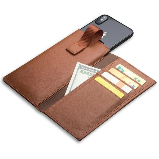 Genuine Leather Wallet Case For iPhone X Leather Wallet Card & Cash Holder Case Cover For iPhone X Luxury Leather Phone Pouch