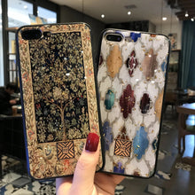 Load image into Gallery viewer, Gold Foil Lucky Tree Ornate Bling Phone Case For iPhone 8 7 6 6s Plus Soft TPU Glitter Cover Fitted Exotic Patterned Case For iPhone X XS Max XR