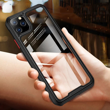 Heavy Duty Protection Transparent Armor Case For iPhone 11 Pro 11 Pro Max Case With Soft Edge Airbag Bumper Anti-Drop Corner Reinforcement