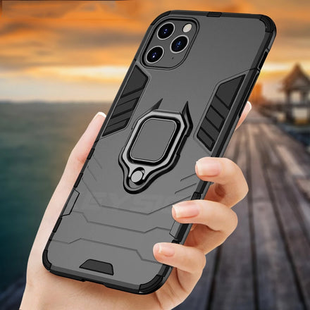 Heavy Duty Protection Shockproof Armor Case For iPhone 11 Pro 11 Pro Max With Stand Car Ring Phone Cover for iPhone 11 Pro XS XR 6S 7 8 Plus