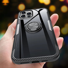 Load image into Gallery viewer, KEYSION Fashion Clear Shockproof Case For iPhone 12 Mini 12 Pro Max Transparent Ring Phone Back Cover for Apple iPhone 12 12 Pro