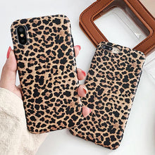 Load image into Gallery viewer, Leopard Skin Pattern Phone Case For iPhone X XS XR XS Max 7 6 6S 8 Plus Case Sexy Cool Fashion Soft TPU Back Cover Leopard Case for iPhone