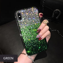 Load image into Gallery viewer, Luxury Crystal Bling Diamond Rhinestone Shimmer Phone Case For iPhone 11 Pro Max X Xr Xs Max Case Gradient Fully-Jewelled Case