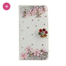 Load image into Gallery viewer, Luxury Crystal Rhinestone Cute Leather Wallet iPhone Case Flip Stand Card Holder Pouch Purse Phone Cover Case For iPhone X XS MAX XR 5S 6 7 8 PLUS