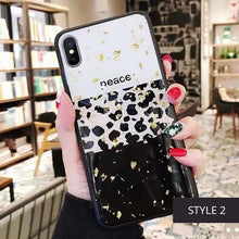 Load image into Gallery viewer, Luxury Leopard Print Phone Case For iPhone 11 Pro X XS MAX XR 6 7 8 Plus Glam Glitter Bling Stylish Fashion Fitted Case for iPhone