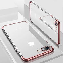Load image into Gallery viewer, Luxury Soft Silicon Transparent Case for iPhone X 10 XS Max XR Protective Fitted Case For iPhone 7 8 7Plus 8Plus Phone Cover For iPhone 6S 6 s 6Plus 6SPlus