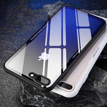 Load image into Gallery viewer, Luxury Toughened Glass Phone Case For iPhone X XR 8 7 7 Plus 6 S 0.7mm Tempered Glass Back Cover With Air Bag Bumper Case For iPhone XS Max Cases