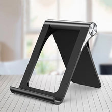 Load image into Gallery viewer, Mobile Phone Stand For iPhone Universal Modern Styling Adjustable Desktop Holder Phone Stand For Tablet In Black or White Suitable For Most Mobile DevicesMobile Phone Stand For iPhone Universal Modern Styling Adjustable Desktop Holder Phone Stand For Tablet In Black or White Suitable For Most Mobile Devices