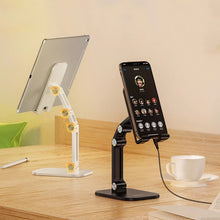 Load image into Gallery viewer, Multi-Angle Foldable Adjustable Desk Mount For iPad iPhone Mobile Phone Stand Universal Tablet Holder Ideal For Positioning Phone For Videocalls Or Movies