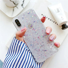 Load image into Gallery viewer, Pink Sparkle Glitter iPhone Case for iPhone X XR XS MAX Anti-Knock Clear Glittery Case for iPhone 6 7 8 Plus Soft TPU Fitted Phone Case Pink Purple