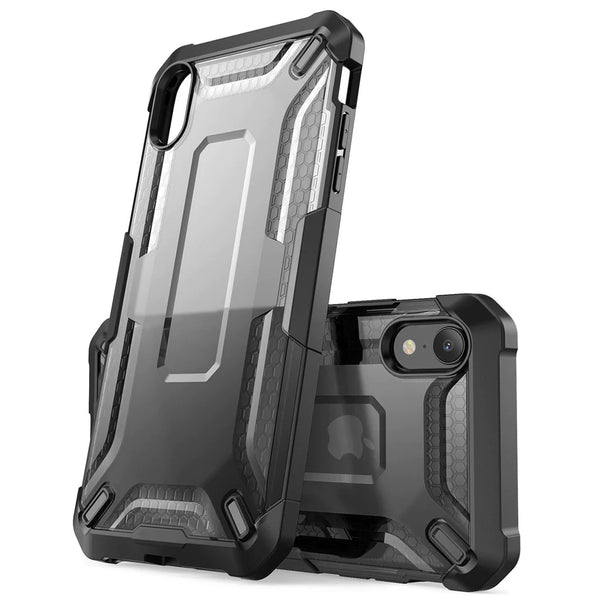 Premium Hybrid Armor Case For iPhone XR  Protective Anti-Shock TPU Bumper With Clear Back Phone Cover For iPhone Xr 6.1 inch - 4 Colors