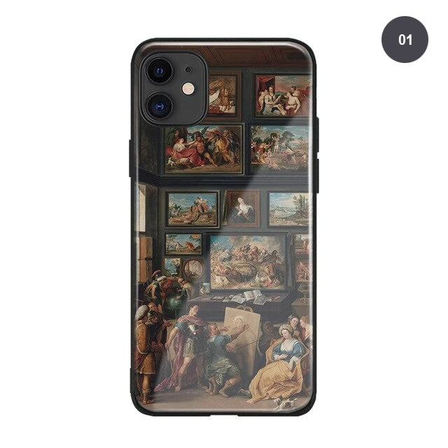 Renaissance Art Phone Case For iPhone SE 6 6s 7 8 Plus X XR XS 11 PRO MAX Famous Italian Fresco Paintings Soft Silicone Case Fitted Case Cover For iPhone XS MAX