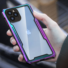 Load image into Gallery viewer, Shockproof Colorful Rainbow Metallic Armor Case For iPhone 12 Pro MAX TPU Bumper Metal Frame Anti-knock Transparent Cover For iPhone 12 Pro Mini