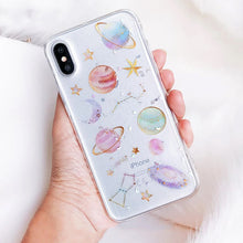 Load image into Gallery viewer, Space Planets Moon And Stars Phone Case For iPhone XS XR XS Max X 5 5S 6 6S 7 8 Plus X Transparent Anti-Knock TPU Back Cover For iPhone