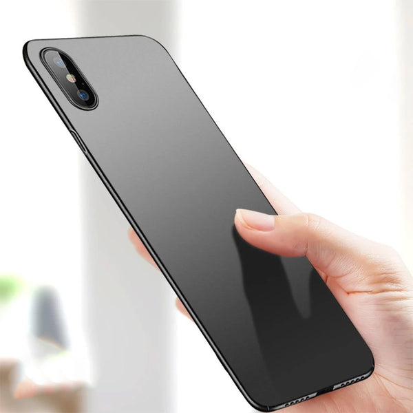 Ultra Thin 0.7mm Hard Protective Skin Case For iPhone XR XS Max X Case Smooth Matte 360 Coverage Anti-Knock Case With Camera Protection