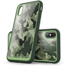 Load image into Gallery viewer, Urban Fashion Hybrid Camo Case For iPhone X XS Case Stylish Camouflage Print Phone Case TPU Bumper and Protective Back Cover For iPhone X XS