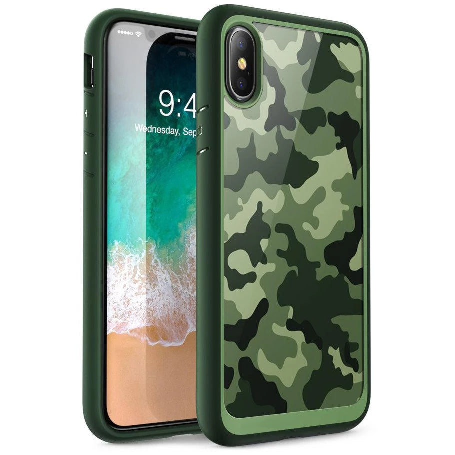 Urban Fashion Hybrid Camo Case For iPhone X XS Case Stylish Camouflage Print Phone Case TPU Bumper and Protective Back Cover For iPhone X XS