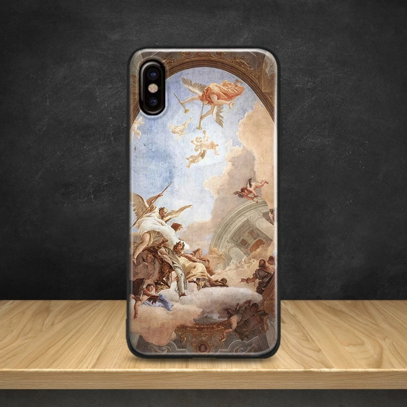 Vintage Renaissance Fine Art Phone Case Soft Silicone Anti-Knock Phone Cover For Apple iPhone 5 Se 5s 6 6s 6 Plus 6s Plus 7 8 7 Plus 8 Plus X